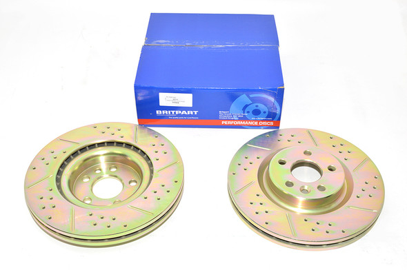 Land Rover Discovery Sport L550 Drilled and Grooved Performance Upgrade Front Brake Discs - DA4689