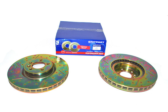 Land Rover Range Rover L405 Drilled and Grooved Performance Upgrade Front Brake Discs - DA4685