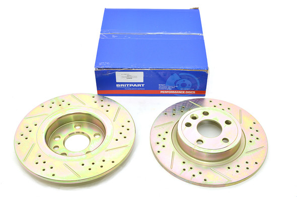 Land Rover Discovery Sport L550 Drilled and Grooved Performance Upgrade Rear Brake Discs - DA4690
