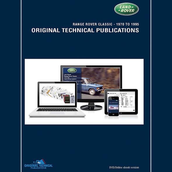 Range Rover Classic Original Technical Publications DVD/Online eBook - LTP3002