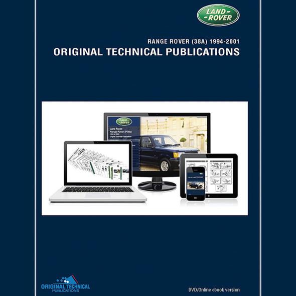 Range Rover P38 Original Technical Publications DVD/Online eBook - LTP3005