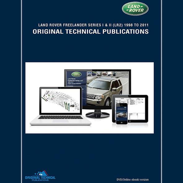 Freelander 1/2 Original Technical Publications DVD/Online eBook - LTP3007
