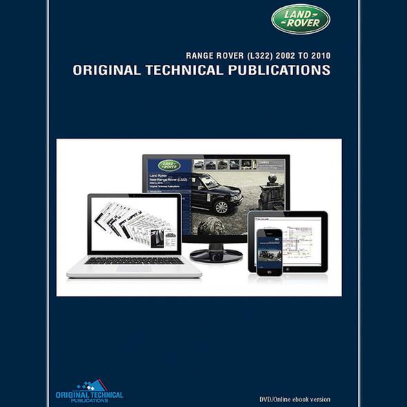 Range Rover L322 Original Technical Publications DVD/Online eBook - LTP3008
