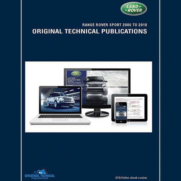 Range Rover Sport Original Technical Publications DVD/Online eBook - LTP3015