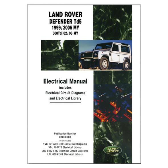 Defender TD5 Electrical Manual Brooklands - DA3157E