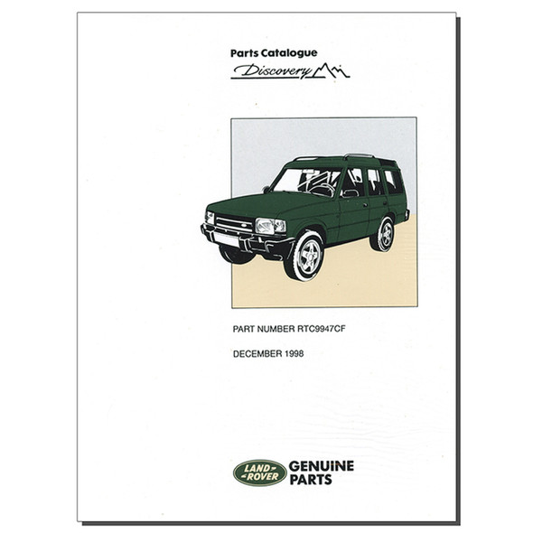 Discovery 1 Parts Catalogue Brooklands - RTC9947CF