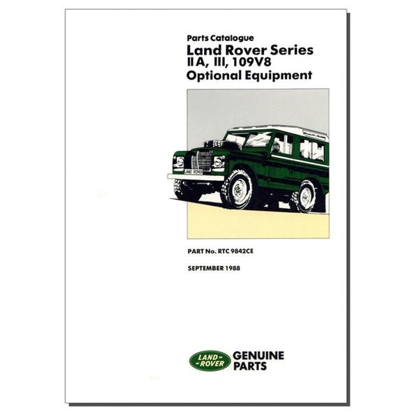 Series 2A/3 & 109 V8 Optional Equipment Parts Catalogue Brooklands - RTC9842CE