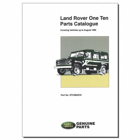 One Ten Parts Catalogue Brooklands - RTC9863CE
