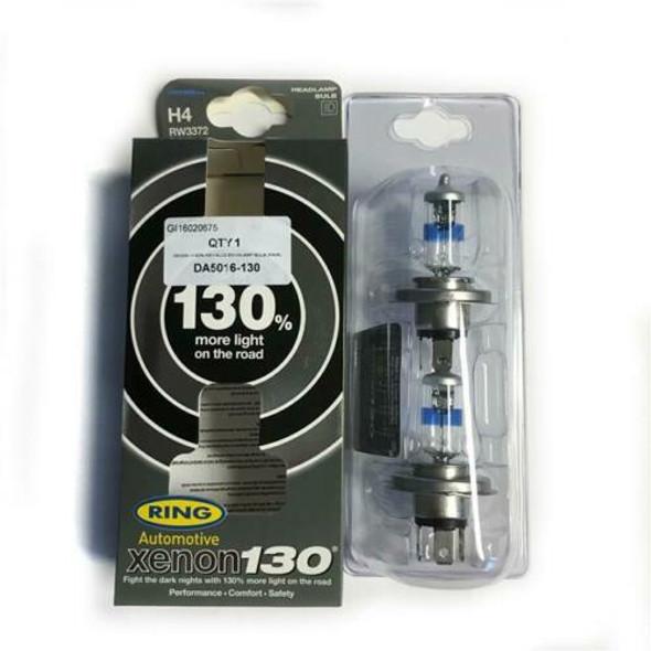 Xenon 130 H4 Ultima Headlamp Bulb Pair Ring - DA5016-130