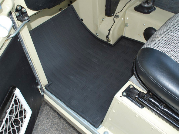 Land Rover Series 2 Rubber Floor Mat Set Black RHD - DA4422