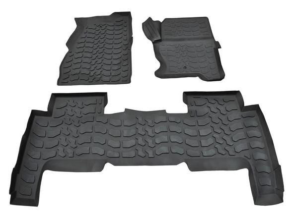 Range Rover Sport L320 Rubber Floor Mat Set Black RHD - DA4804