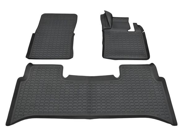 Range Rover L322 Rubber Floor Mat Set Black RHD - DA4806