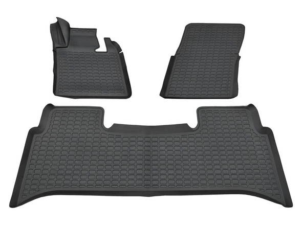 Range Rover L322 Rubber Floor Mat Set Black LHD - DA4807
