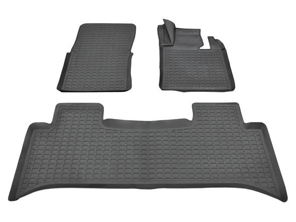 Land Rover Range Rover L322 Rubber Floor Mat Set Black RHD - DA4808