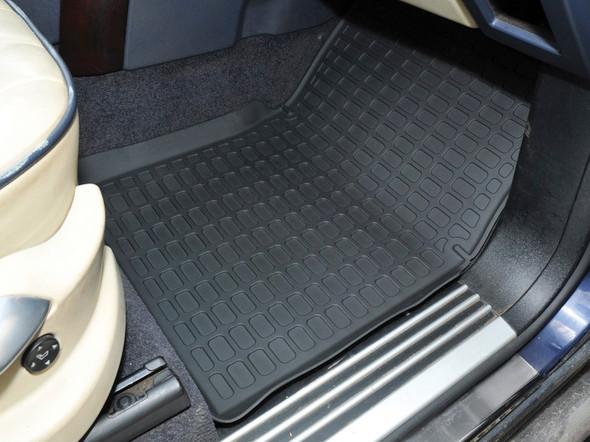 Land Rover Range Rover L322 Rubber Floor Mat Set Black LHD - DA4809