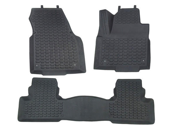 Range Rover Evoque Rubber Floor Mat Set Black RHD - DA4812