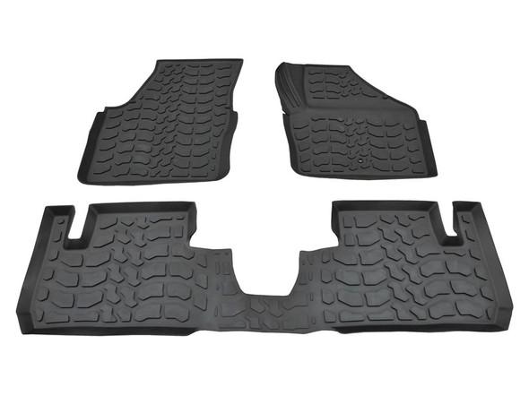 Freelander 2 L359 Rubber Floor Mat Set Black RHD - DA4800