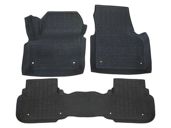 Land Rover Discovery Sport L550 Rubber Floor Mat Set Black LHD - DA4828