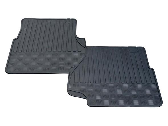 Land Rover Defender Rubber Floor Mat Set Black RHD - STC50172