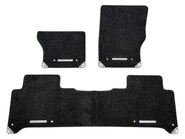 Land Rover Range Rover Sport L494 Front & Rear Carpet Floor Set With Rubber Backing Ebony RHD - VPLWS0374PVJLR