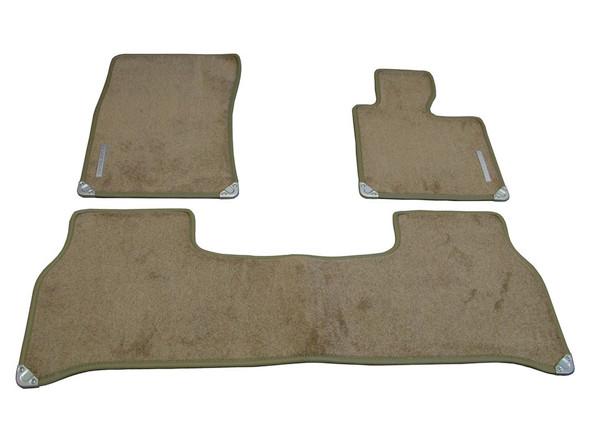 Land Rover Range Rover L322 Front & Rear Carpet Floor Mat Set With Rubber Backing Sand RHD - EAH000300SUN