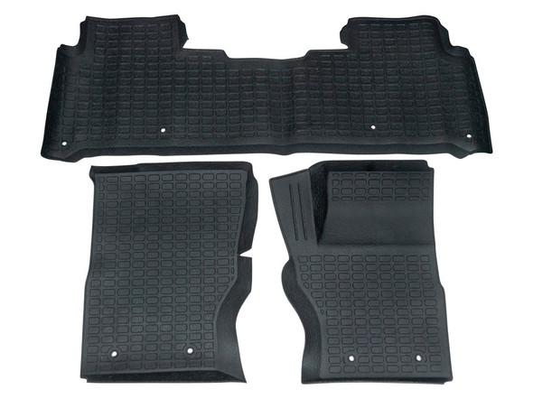 Land Rover Discovery 5 L462 Rubber Floor Mat Set Black RHD - DA4858