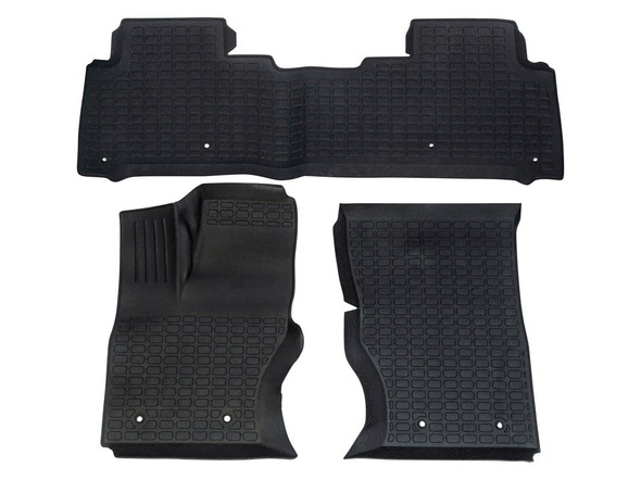 Land Rover Discovery 5 L462 Rubber Floor Mat Set Black LHD - DA4859