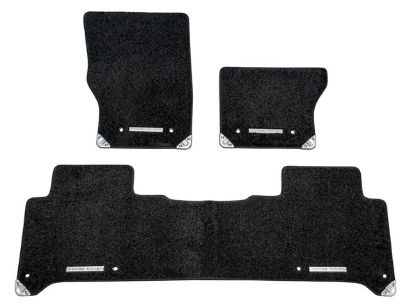 Land Rover Range Rover Sport L494 Front & Rear Carpet Floor Set With Rubber Backing Ebony LHD - VPLWS0375PVJLR