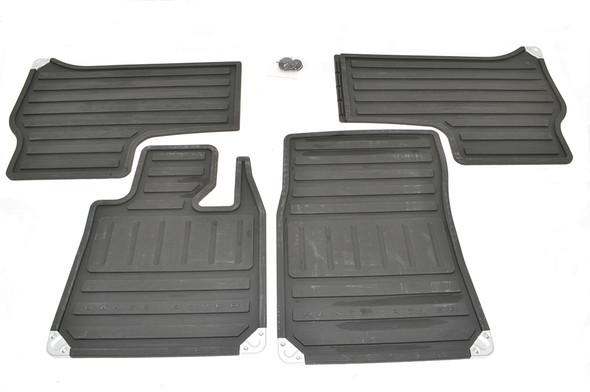 Land Rover Range Rover L322 Front & Rear Floor Rubber Mat Set Black RHD - EAH000261PMALR