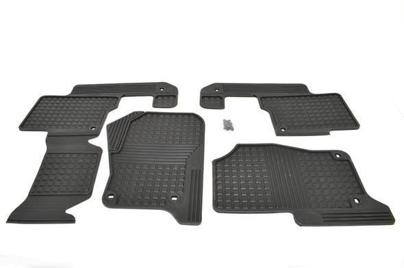 Land Rover Discovery 3 L319 Front & Rear Floor Rubber Mat Set Black LHD - EAH500050PMALR