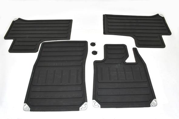 Land Rover Range Rover L322 Front & Rear Rubber Floor Mat Set Black RHD - EAH500320PMALR
