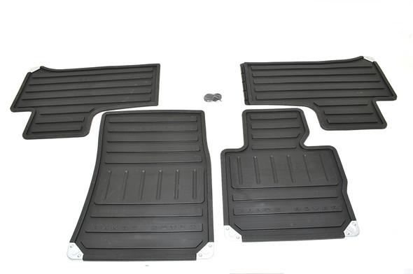 Land Rover Range Rover L322 Front & Rear Rubber Floor Mat Set Black LHD - EAH500330PMALR