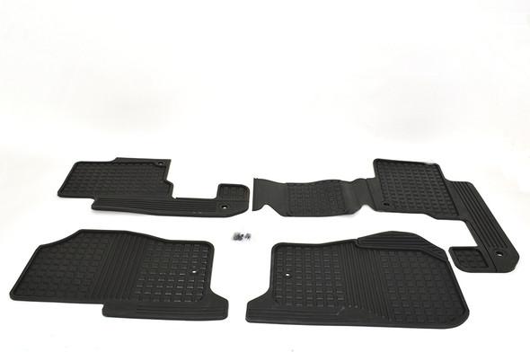 Land Rover Discovery 3 L319 Front & Rear Rubber Floor Mat Set Black LHD - LR006238LR