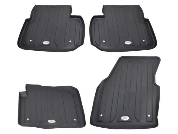 Land Rover Discovery Sport L550 Front & Rear Rubber Floor Mat Set Black RHD - VPLCS0278LR