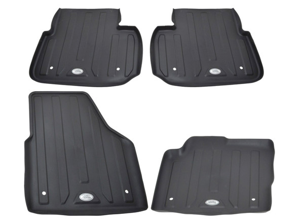 Land Rover Discovery Sport L550 Front & Rear Rubber Floor Mat Set Black LHD - VPLCS0281LR
