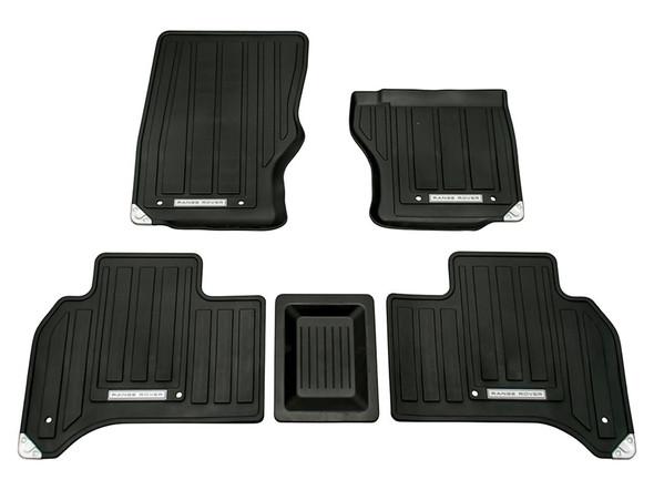 Land Rover Range Rover L405 Front & Rear Rubber Floor Mat Set Black RHD - VPLGS0149LR