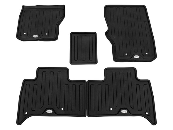 Land Rover Discovery 5 L462 Front & Rear Floor Rubber Mat Set Ebony LHD - VPLRS0333PVJLR
