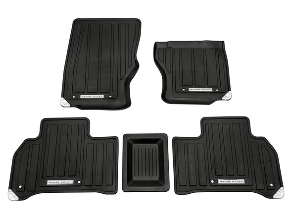 Land Rover Range Rover Sport L494 Front & Rear Rubber Floor Mat Set Black RHD - VPLWS0189LR