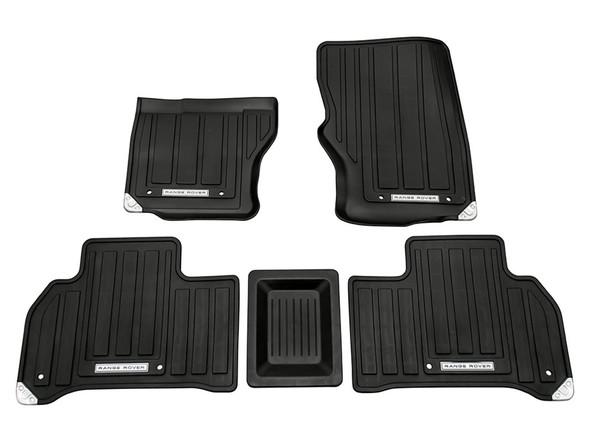 Land Rover Range Rover Sport L494 Front & Rear Rubber Floor Mat Set Black LHD - VPLWS0190LR