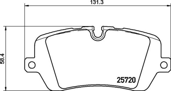 Land Rover Discovery 5 L462 2016 Onwards Rear Brake Pads Britpart XS - LR108260G