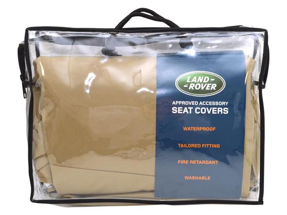 Land Rover Discovery Sport L550 Rear Premium Waterproof Seat Covers Almond - VPLCS0293SVALR