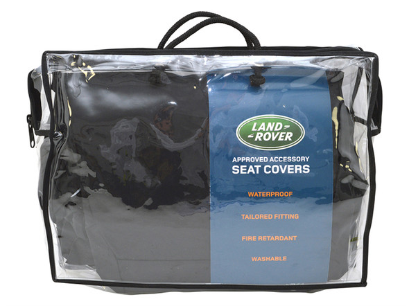Land Rover Discovery 5 L462 Front Premium Waterproof Seat Covers Black - VPLRS0335PVJLR
