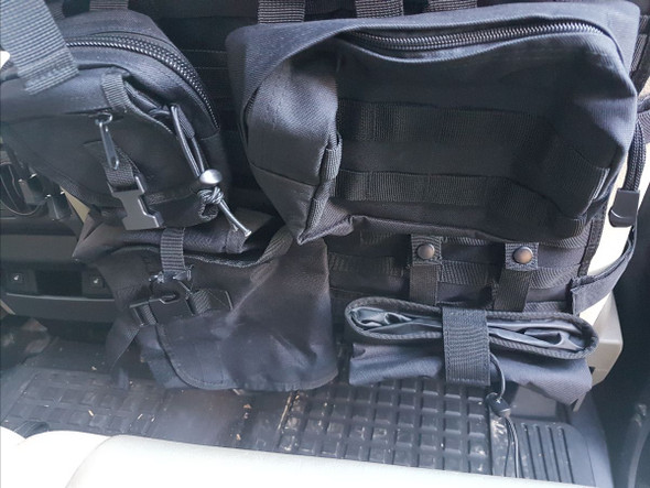 Terrafirma Tactical Seat Cover Car Tidy Storage System