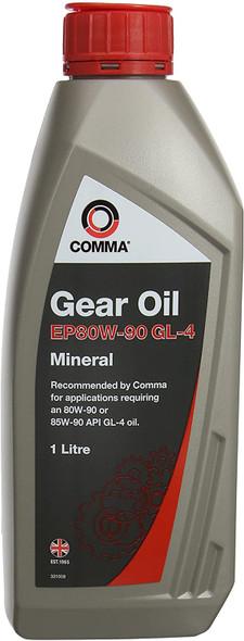 JGS4x4 | COMMA EP80/90 Gear Oil Gearbox Axle Differential Oil 1L - GO41L