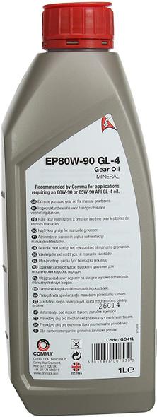 COMMA EP80/90 Gear Oil Gearbox Axle Differential Oil 1L