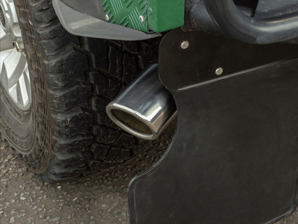 JGS4x4 | Land Rover Defender 90 Big Bore 3 Inch Straight Through Exhaust Tailpipe - GA568