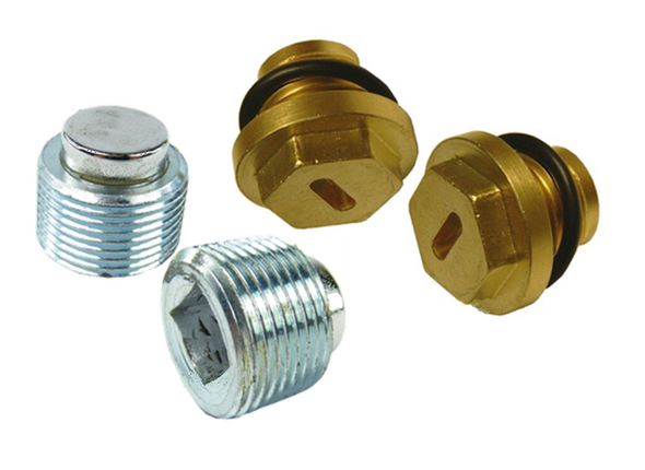 JGS4x4 | Land Rover Discovery 2 Magnetic Diff Drain & HD Brass Filler Plug Set -