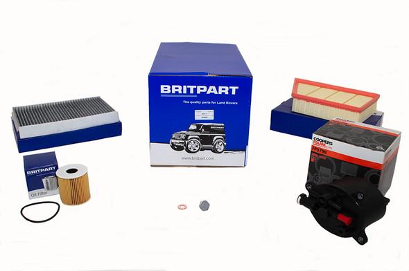 Land Rover Range Rover Evoque L538 2.2 Diesel Engine Service Filter Kit - DA6091-1