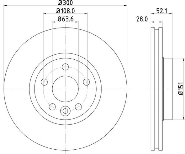 Land Rover Range Rover Evoque 2011- Front Vented Brake Discs - Exact OEM Specification - LR007055G-1