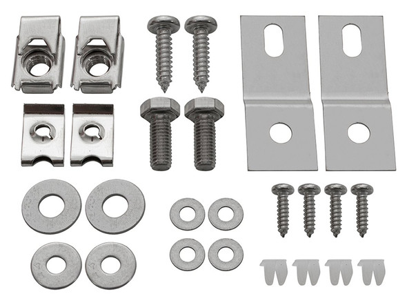 Land Rover Defender stainless steel air-con panel mounting brackets - MTC6332KIT